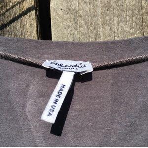 Splendid Dresses - Splendid 3/4 Roll Sleeve Maxi Dress Grey XS